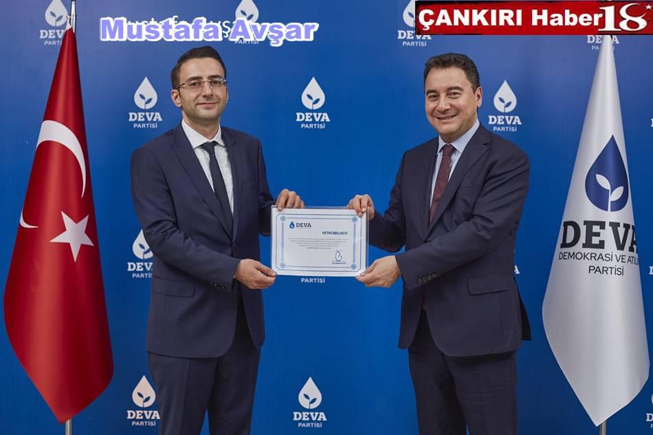 DEVA Partisi Çankırı Kurucu İl Başkanı Mustafa Avşar