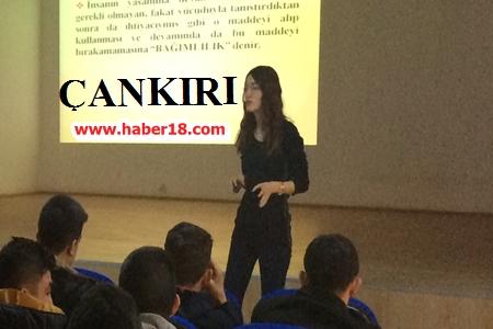 631 Öğrenciler Bağıllılıkla Mücadele Eğitimi Verildi Kurumlar - Çankırı