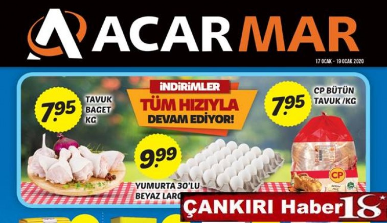 Acarmar Market 17-19 Ocak 2020 İndirimleri - Acarmar Market - Çankırı - Haber 18