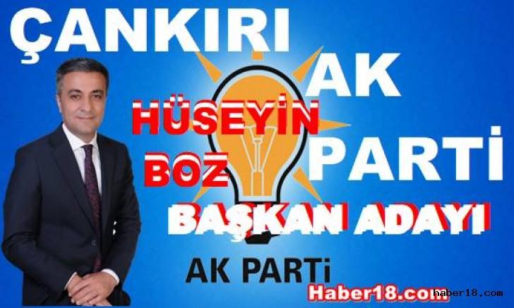 Ak Parti Çankırı Belediye Başkan Adayı Hüseyin Boz Siyaset haber18 çankırı