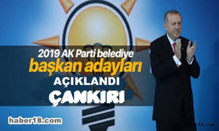çankırı - AK Parti  İl İlçe Belediye Başkan Adaylarını Açıklandı Siyaset