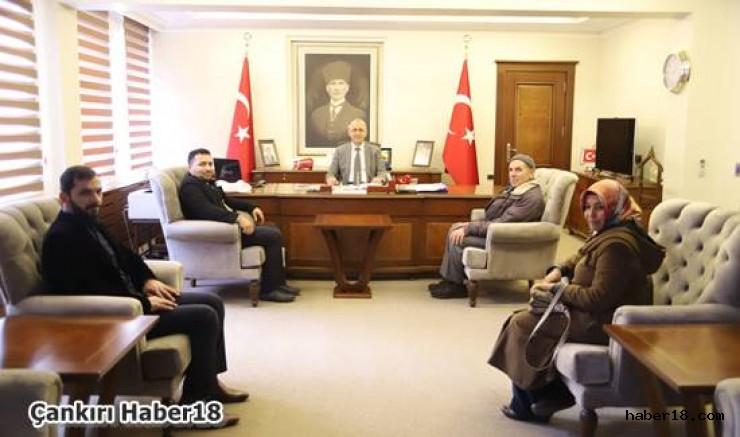 Arıcılar Vali Hamdi Bilge Aktaş'ı Ziyaret Etti Hamdi Bilge Aktaş - Çankırı