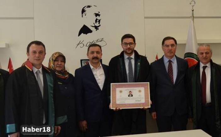 Çankırı - Av. Şevket Bahadır Kalaycı, Avukatlık Ruhsatını Aldı - Çankırı Spor haber18 haberleri
