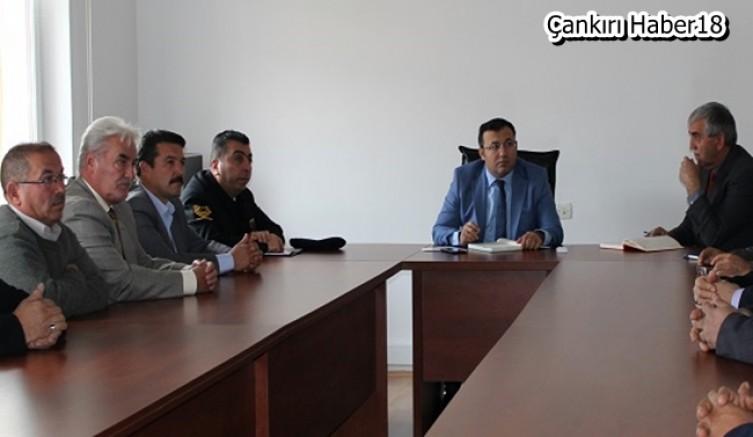 Çankırı - Bayramören'de Toplantı Kaymakam Dinç Başkanlığında Gerçekleşti - Bayramören - haber18