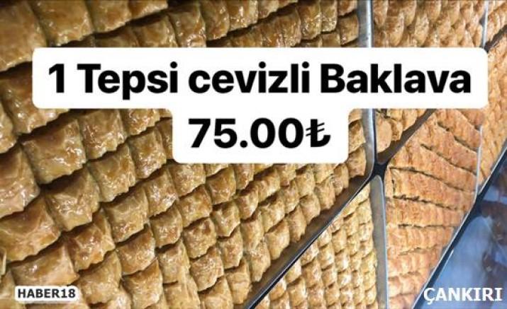 Çankırı - Bir Tepsi Baklava Revoli'de Sadece 75 TL - İlanlar Duyurular Çankırı haber18