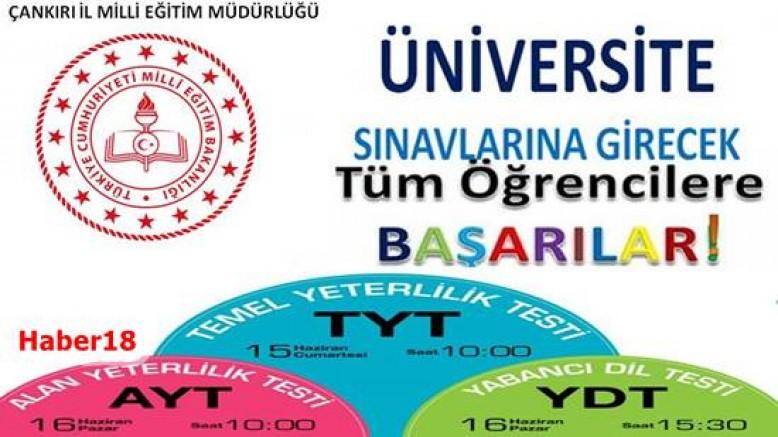 Çankırı - Bu Hafta Sonu Üniversite Sınavı Var - İlanlar Duyurular haber18 haberleri