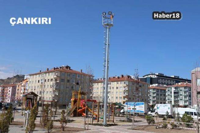 Çankırı Belediyesi Parkları Aydınlanıyor Çankırı Belediyesi - Çankırı