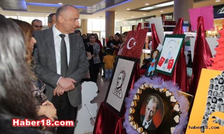 Çankırı'da 10 Kasım Resim Sergisi Açıldı