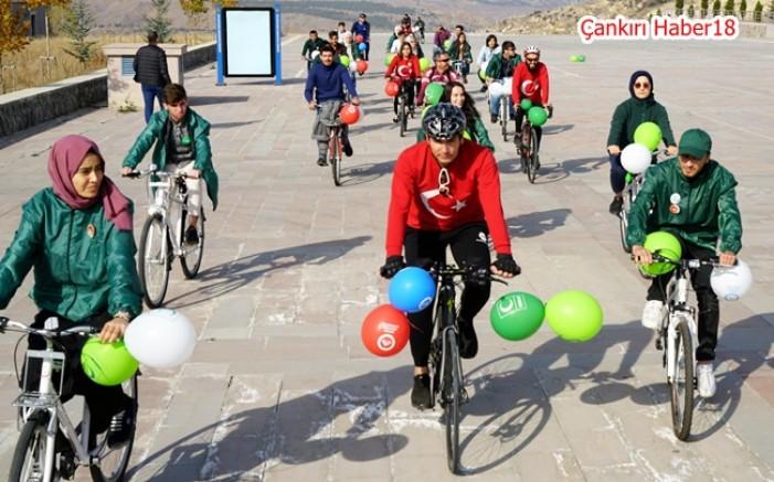 Çankırı'da Genç Yeşilay Topluluğu Sağlık İçin Pedal Çevirdi - Üniversite - Çankırı - haber18
