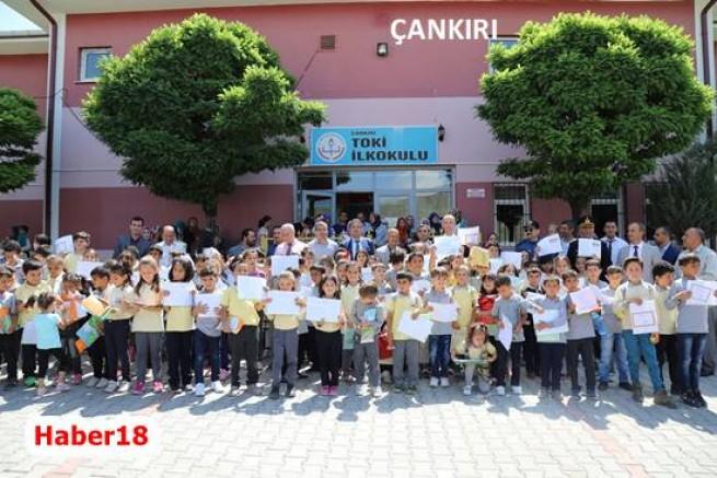Öğrenciler Karne Sevinci Yaşadı   - Valilik/Çankırı/haber18