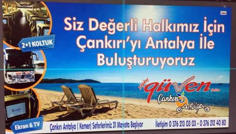 Çankırı - Çankırı Güven Antalya Seferlerine Başlıyor - İlanlar Duyurular haber18 haberleri