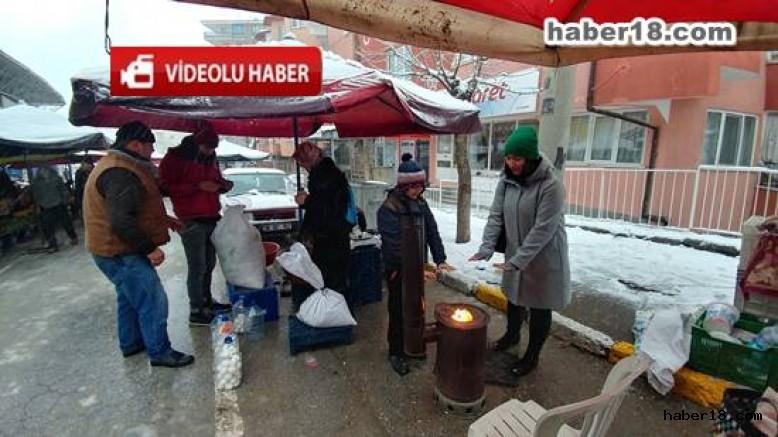 Çankırı Pazarı ve Şehir Merkezi Kış Görüntüleri