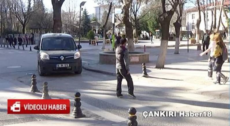 Çankırılı Sürücülerden Yayalara Saygı Genel - Çankırı