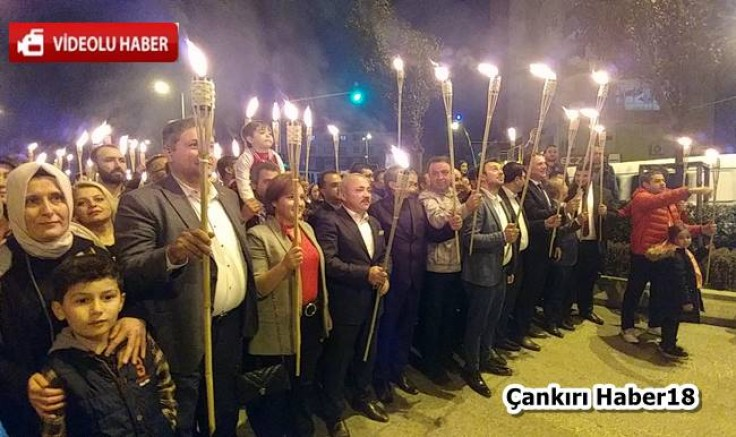 Çankırı - Cumhuriyet  Bayramında 96 Meşale İle Yürüdüler - Genel Haber - haber18