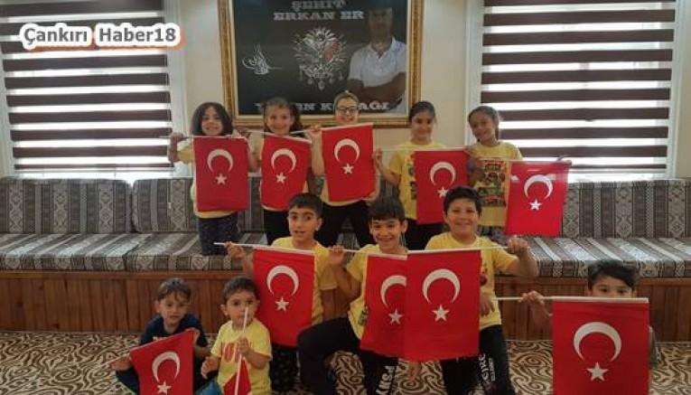 Çankırı - Çocuklar  Orta İlçesindeki 15 Temmuz Şehitlerimizi Unutmadı - Orta Haberleri haber18 haberleri