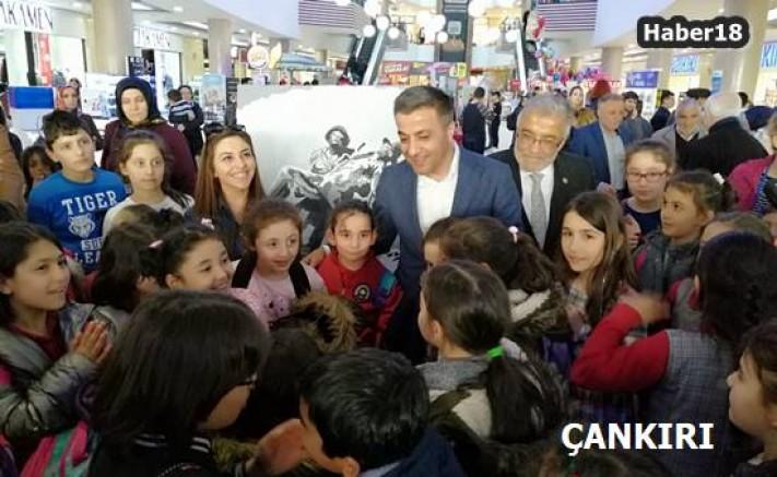 Çocuklardan Karma Resim ve Seramik Sergisi Çankırı Belediyesi - Çankırı