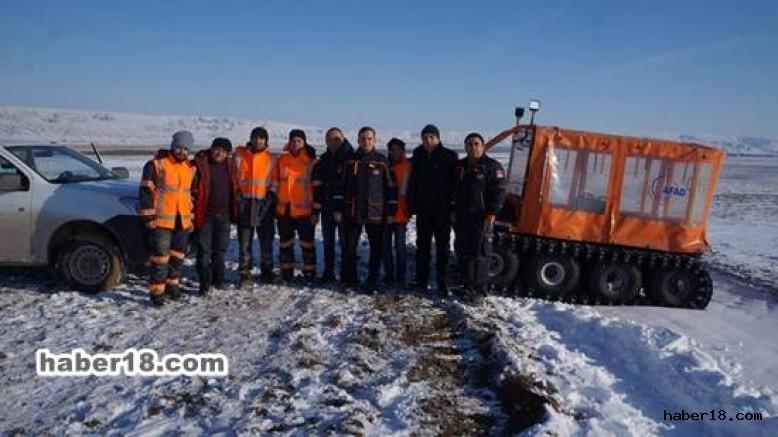çankırı - Demiryolu İşçileri Karda Mahsur Kaldı İl Afet ve Acil Durum Müdürlüğü