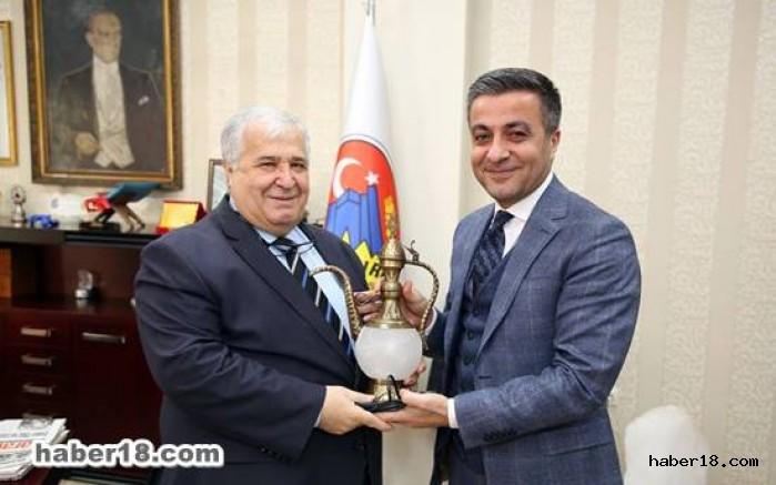 çankırı - Devlet Bakanı Türker, Başkan Boz'u Ziyaret Etti Hüseyin Boz