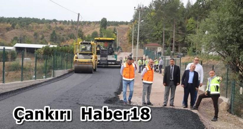Fidanlık Yolu Sıcak Asfalt ile Buluşuyor - Belediye Haberleri - Çankırı - haber18