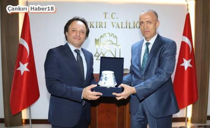 Çankırı - Genel Müdür, Vali Hamdi Bilge Aktaş'ı  Ziyaret Etti - Hamdi Bilge Aktaş haber18 haberleri