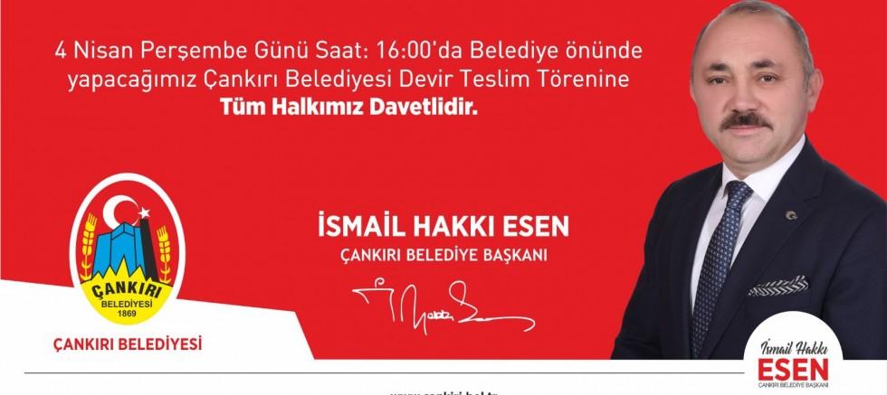 Çankırı - Hakkı Başkan Belediyeyi Devir Alıyor - Belediye Haberleri haber18 haberleri