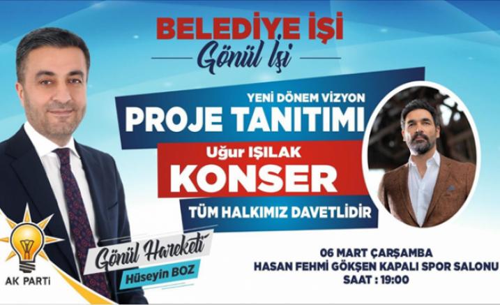 Belediye Başkanı Hüseyin Boz Projelerini, Uğur Işılak Konserinde Açıklayacak - Çankırı Belediye Haber18 - attorney at law ,boat yacht  wealth luxury