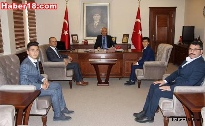 İl Öğrenci Meclis Başkanı Vali Aktaş'ı Ziyaret  Etti Eğitim haber18 çankırı