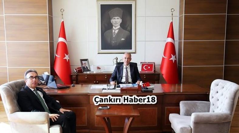 İl Göç İdaresi  Müdürlüğüne atanan, Vali Aktaş'ı ziyaret etti - Çankırı Kurumlar Haber18 - attorney at law ,boat yacht  wealth luxury