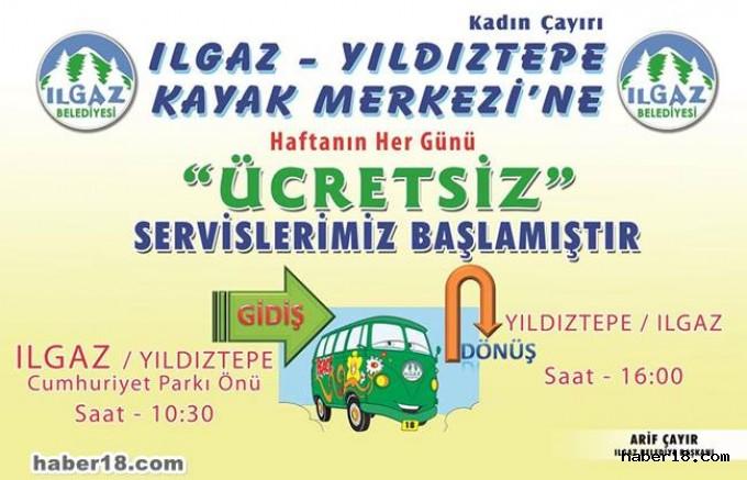 Ilgaz Belediyesi Ücretsiz Servis Sunuyor