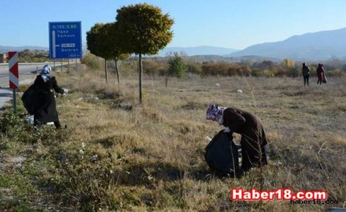 Ilgaz Kaymakamlığı -80 Karayolunda Temizlik Çalışması Yaptı
