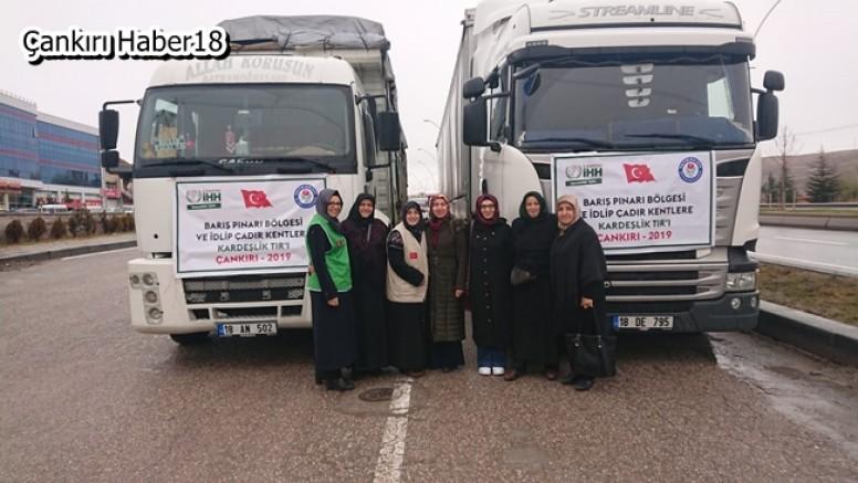 İlimizden Barış Pınarı Ve İdlip Çadırkentlere  Kardeşlik TIR'I - STK Çankırı haber18