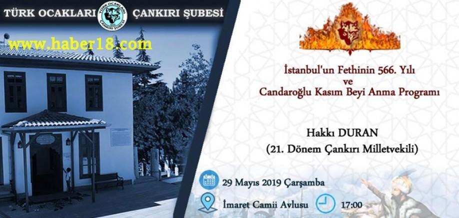 Çankırı - İstanbul'un Fethi ve Kasım Beyi Anma Programı Düzenlenecek - STK Çankırı haber18