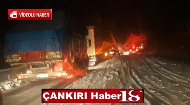 Kar Çankırı Ankara Kara Yolunu Kapattı - Genel Haber - haber18.com - Çankırı haberleri