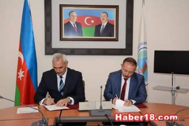 Karatekin Üniversitesi ile Nahçıvan Devlet Üniversitesi Anlaşma