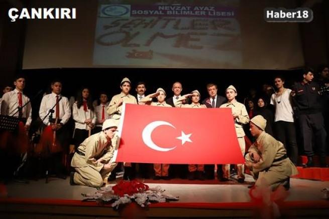 Kültür Merkezinde ,18 Mart Şehitleri Anma Programı Gerçekleştirildi - Valilik - Çankırı - haber18
