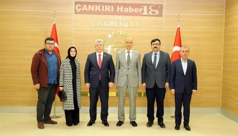 Milletvekili Akbaşoğlu ve Siyasiler Vali AKtaş'ı Ziyaret Ettiler - SİYASET - Çankırı - haber18