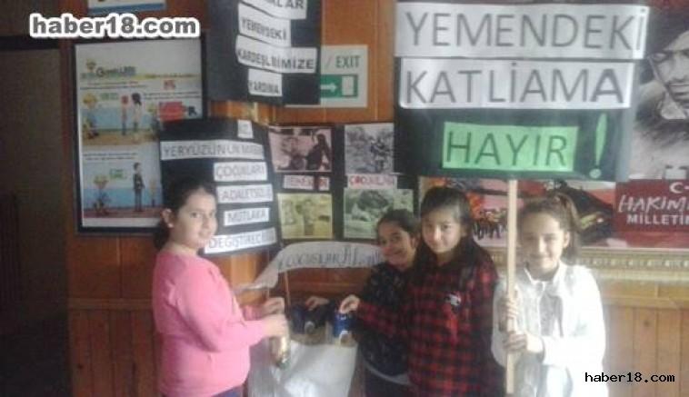 çankırı - Minik Öğrencilerden Yemen Yarım Kampanyası Çankırı Eğitim