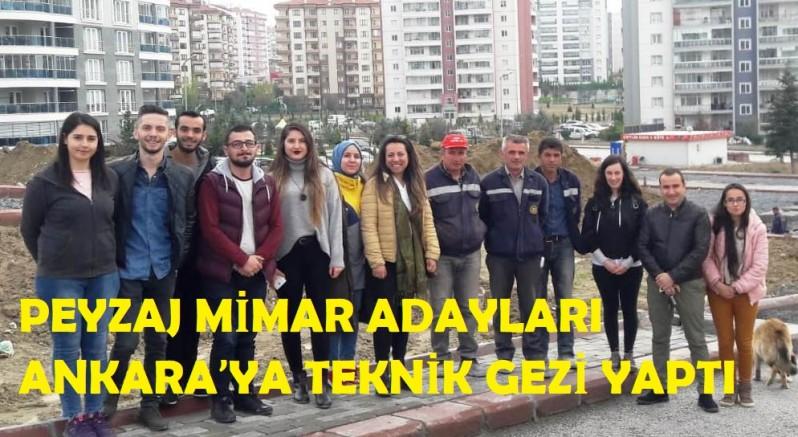 Çankırı - Peyzaj Mimar Adayları Ankara'ya Teknik Gezi Yaptı - Üniversite haber18 haberleri