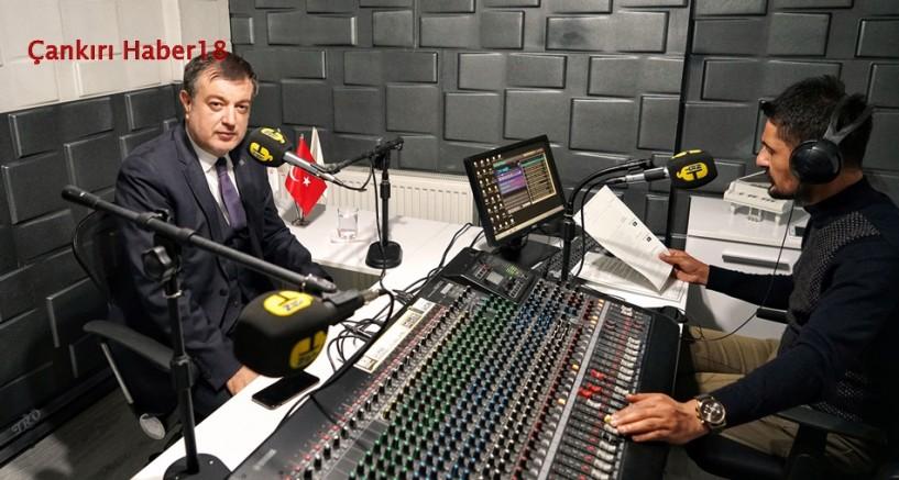 Çankırı - Rektör Ayrancı Oldu Radyoya Konuk Oldu - Hasan Ayrancı Çankırı haber18