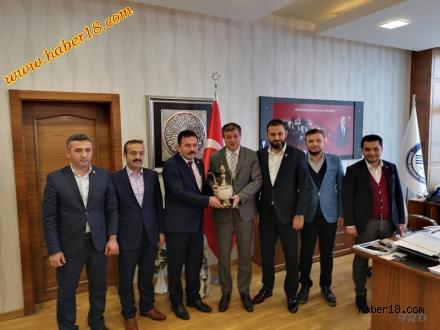 Rektör Ayrancı'yı Ziyaret Ettiler