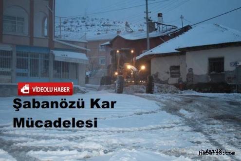 Çankırı - Şabanözü Belediyesi Karla Mücadele Çalışmaları - Çankırı Şabanözü haber18 haberleri