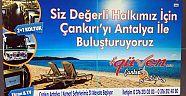 Çankırı - haber18 - Çankırı Güven Antalya Seferlerine Başlıyor - İlanlar Duyurular