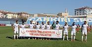Çankırı - haber18 - Futbolcular Sahaya Pankartla Çıktı  - Sağlık Müdürlüğü