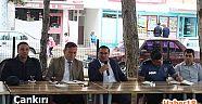 Kaymakam Altay Toplantıyı Çay Bahçesinde Yaptı - Şabanözü - Çankırı - haber18