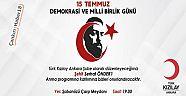 Kızılay Ankara Şubesi Şabanözü'nde 15 Temmuz Programı Düzenliyor - Şabanözü - Çankırı - haber18