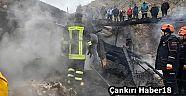Çankırı - haber18 - Yangında  Evin Enkazı Altında kaldı - Korgun Haberleri