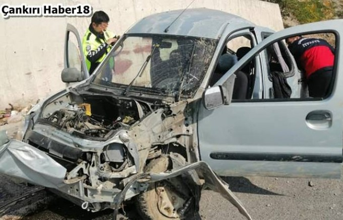 Tüney Mevkiinde Kaza 1 Ölü.2 Yaralı - Genel Haber Çankırı haber18
