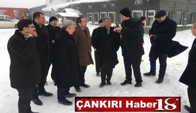 Vali Aktaş , Bakandan Yıldıztepe'ye destek istedi - Ilgaz - haber18.com - Çankırı haberleri