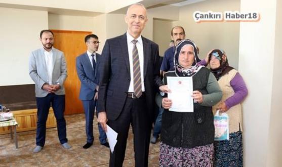 Çankırı - Vali Aktaş,Tapuları Teslim Etti - Valilik Haberleri haber18 haberleri