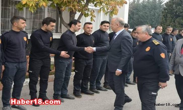 Çankırı - Vali Hamdi Bilge Aktaş, İtfaiyeyi Ziyaret Etti - Hamdi Bilge Aktaş haber18 haberleri